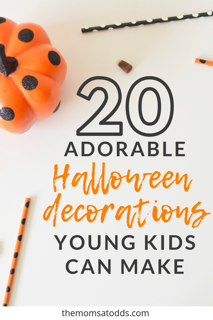 The BEST Halloween Decoration Crafts to make with young children