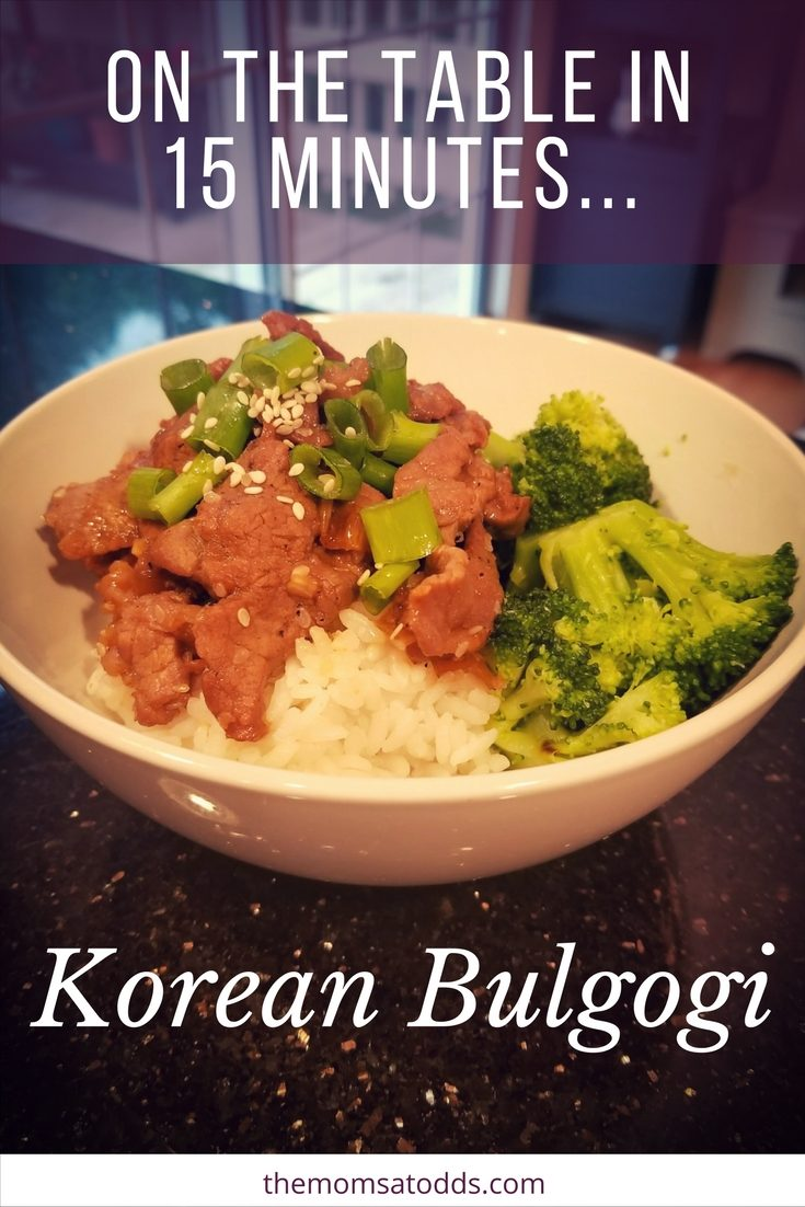 Easy and yummy Korean bulgogi recipe that you can finish in 15 minutes! Great one to introduce even picky eaters to new flavors.