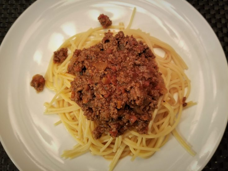 All Natural & Yummy Homemade Spaghetti Bolognese