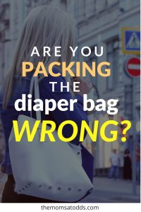 A GREAT strategy for packing your diaper bag effectively