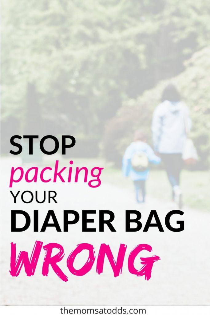 Diaper bag effective packing