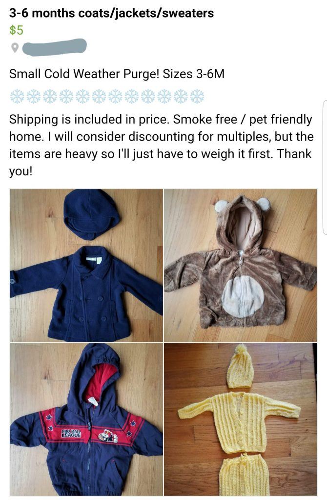 Great Guide to Selling Baby Clothes on Facebook BST Groups!