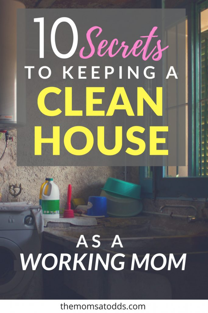 Keeping Your House Clean With Small Children - great tips for busy moms!