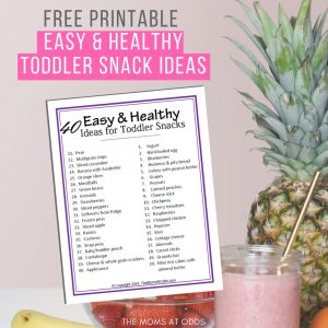 40 Easy and Healthy Ideas for Toddler Snacks