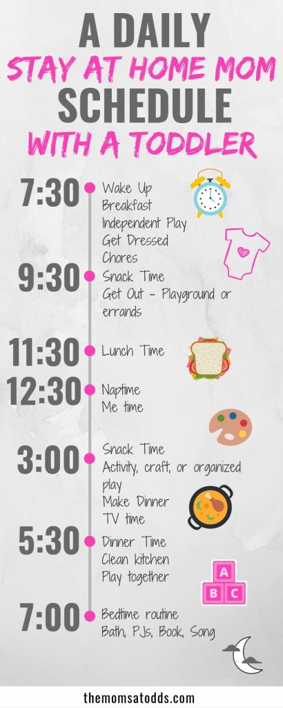 The BEST stay at home mom schedule